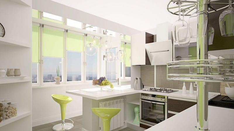 Все об объединении балкона с кухней