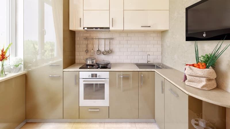 Дизайн кухни с холодильником в хрущевке 6 кв метров