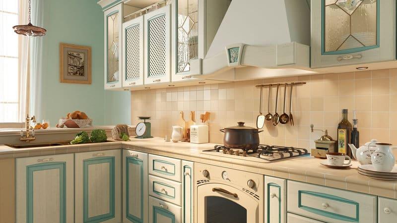 Патинированные фасады для кухни