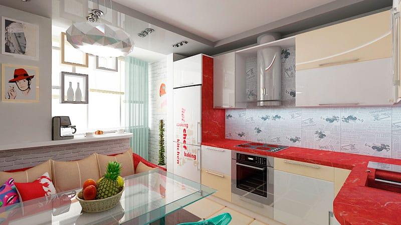 Кухня совмещенная с гостиной в хрущевке