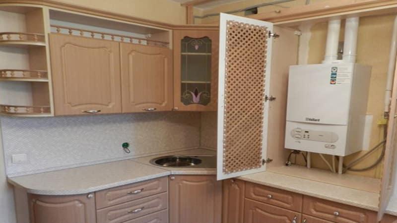Как спрятать котел индивидуального отопления на кухне