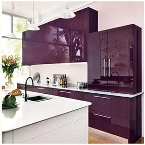 Как выбрать кухню в баклажановом цвете