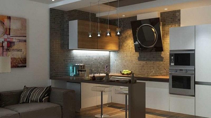 Маленькие кухни-гостиные: совмещенная планировка