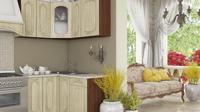 Кухня беленый дуб в интерьере квартиры