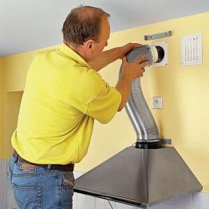 Подключение гофры к кухонной вытяжке — как закрепить
