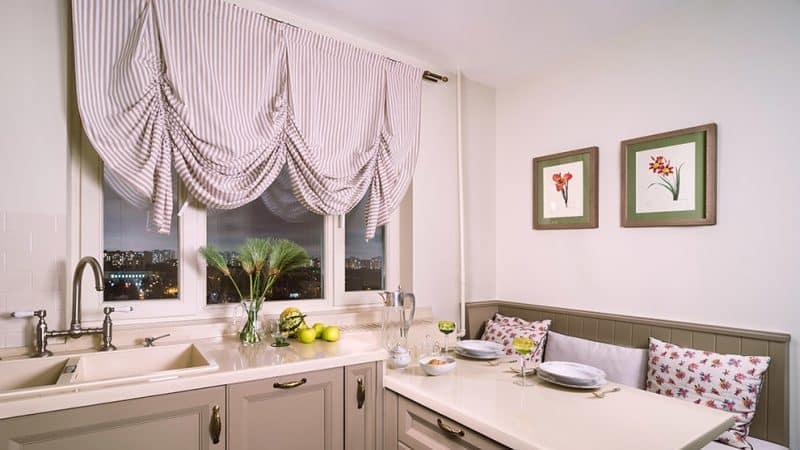 Подбираем правильные шторы для маленькой кухни