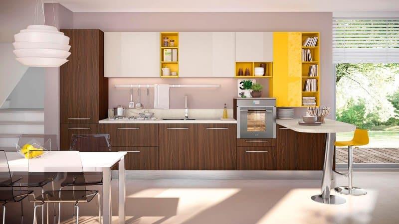 Современный кухонный гарнитур: модная мебель в новом стиле