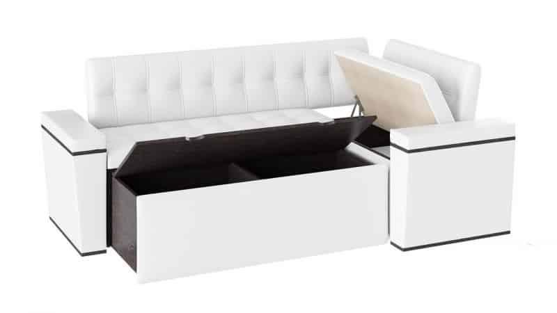 Узкий и прямой диван на кухню со спальным местом