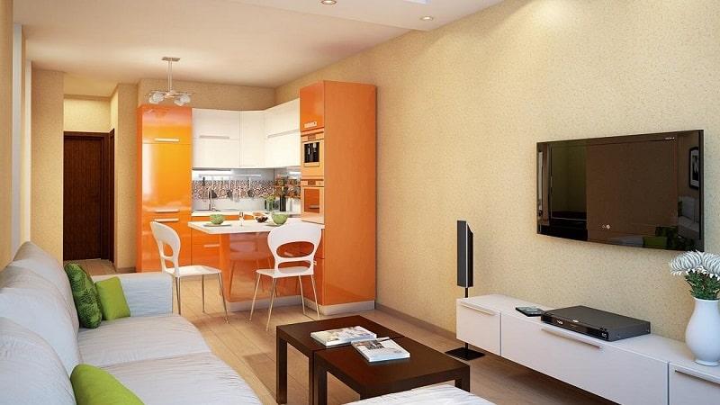 Особенности оформления кухни-гостиной 14 м²