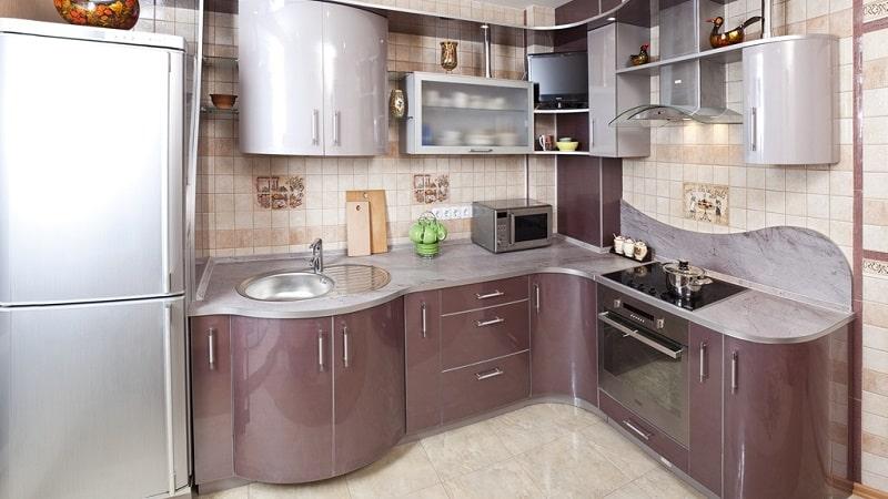 Об угловых кухнях 9 метров и дизайне гарнитура
