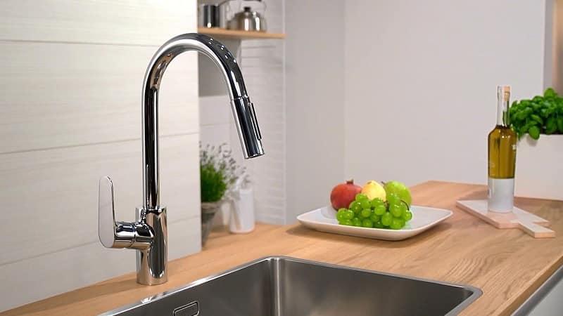 Все о смесителях для кухни с длинным изливом и душем