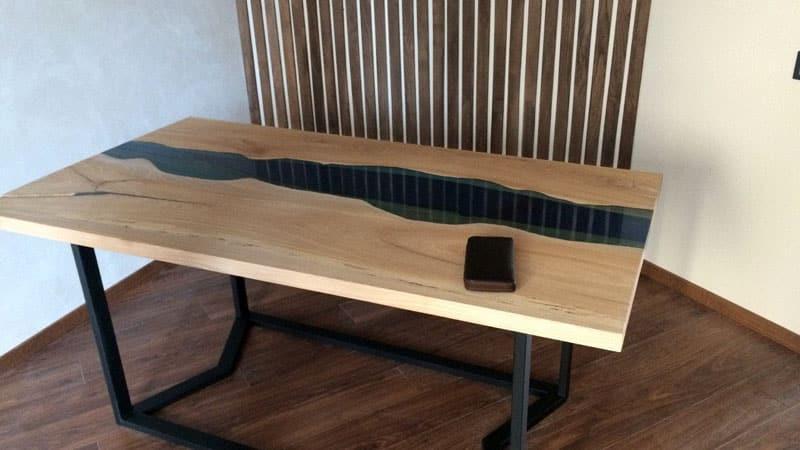 Оригинальная столешница из слэба на кухню: изготовление из цельного среза дерева