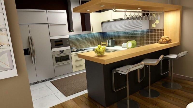 Все о переходе от плитки к ламинату на кухне