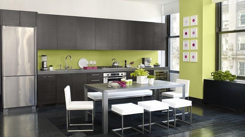 Грамотное сочетание и комбинирование цветов в интерьере кухни