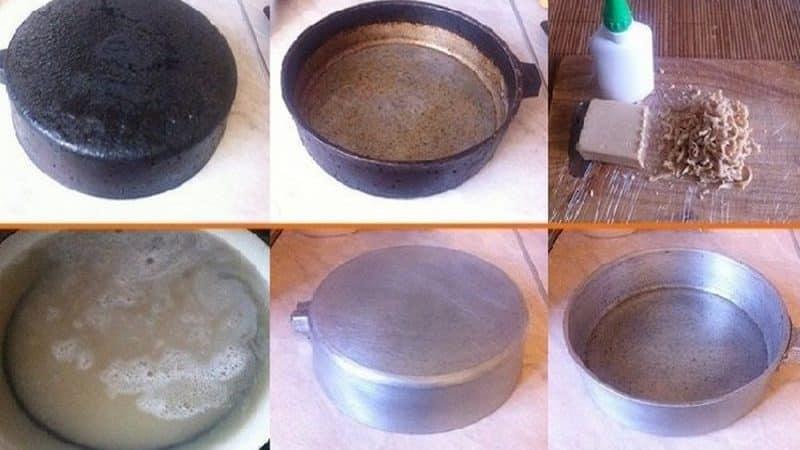 Как почистить алюминиевые кастрюли от нагара