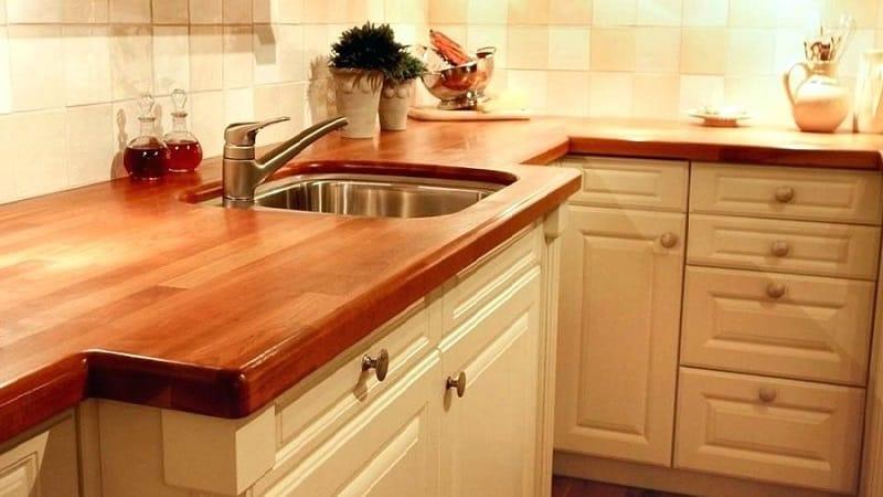 Выбор цвета столешницы для кухни