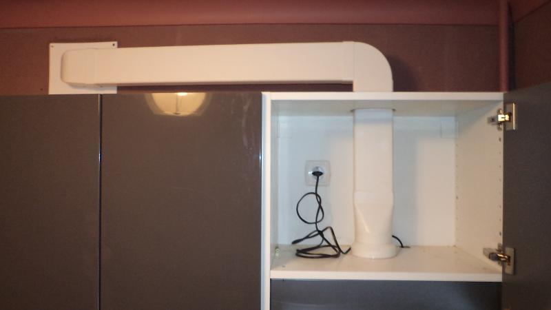 Декоративные короба для кухонных вытяжек с отводом в вентиляцию