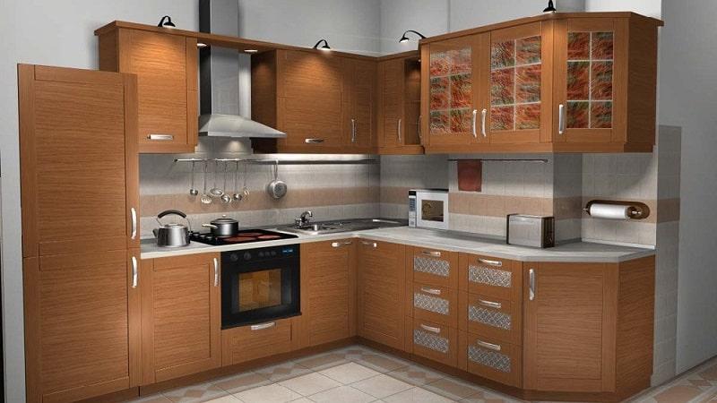 Кухонные гарнитуры со встроенной техникой в современном стиле