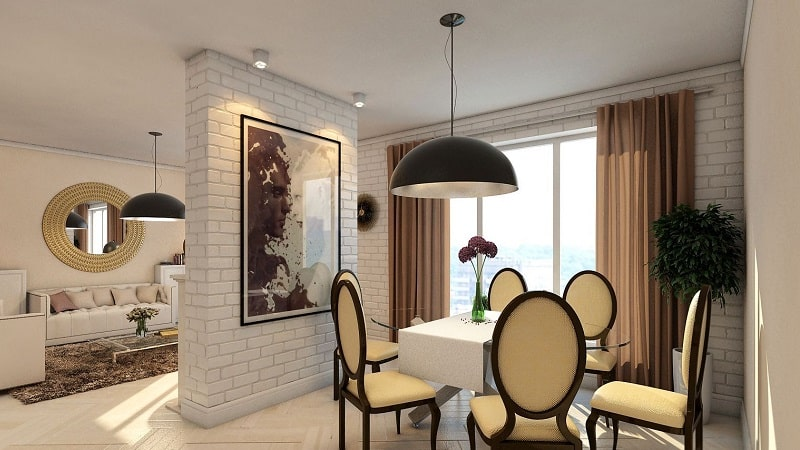 О перегородке между кухней и гостиной