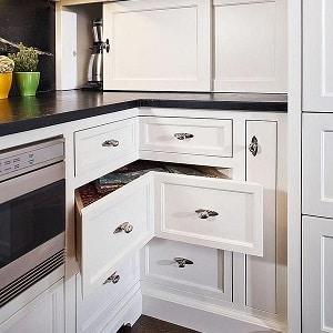 Об угловом шкафе на кухню - как выбрать, как разместить и где он будет уместен