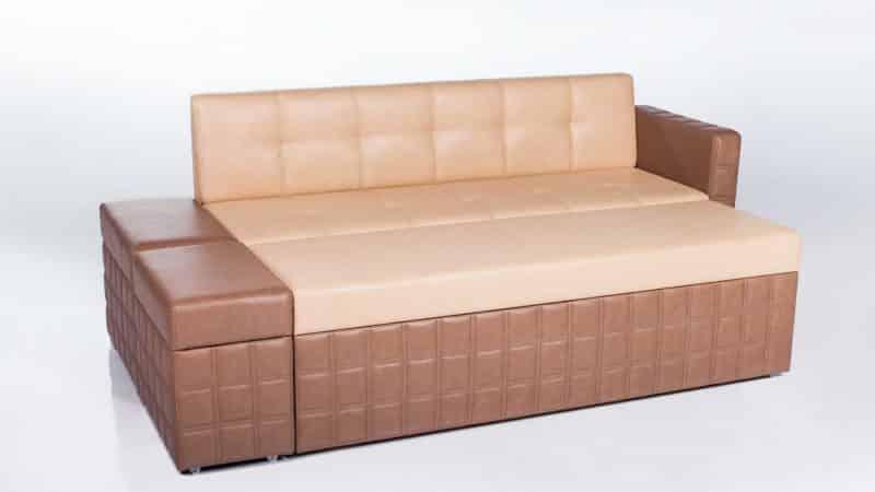 Прямые кухонные диваны со спальным местом