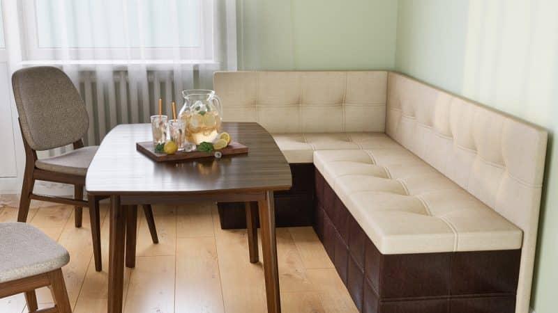 Установка кухонных диванов со спальным местом для маленькой кухни