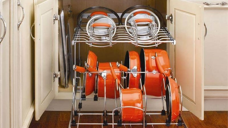 Все о системах хранения кастрюль и сковородок на кухне