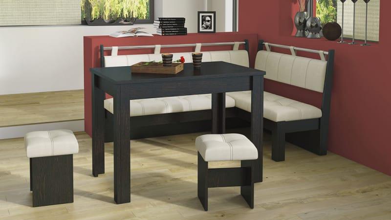 Выбор кухонного уголка на кухню со столом и стульями в комплекте