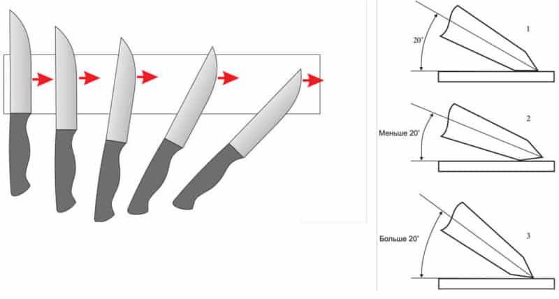 Кухонные ножи: как выбрать угол заточки