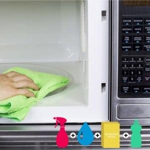 Как быстро и без забот помыть микроволновую печь внутри