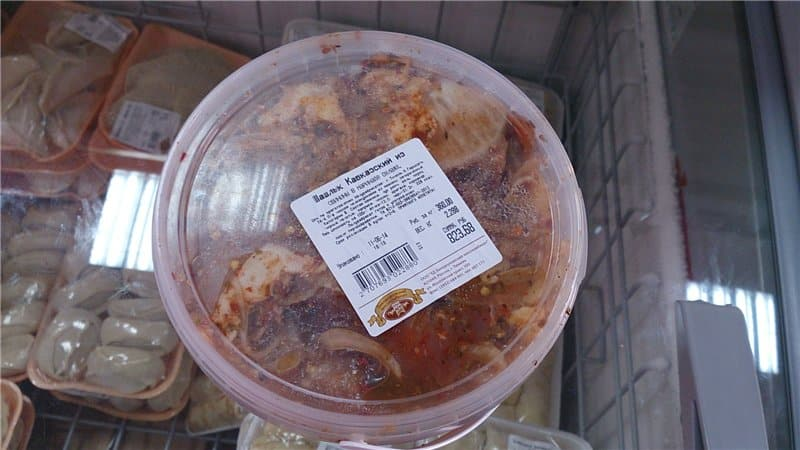 Сколько хранится мясо в маринаде для шашлыка в холодильнике