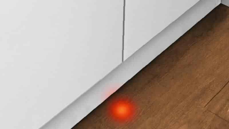 Что это за функция луч на полу в посудомоечных машинах