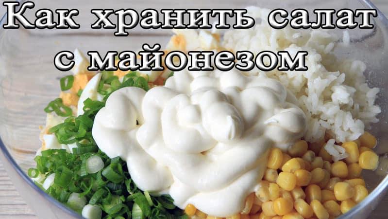 Хранение салата с майонезом в холодильной камере — сроки