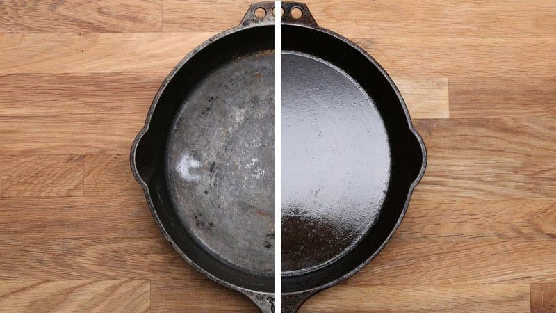 Как почистить чугунную сковородку от нагара и ржавчины