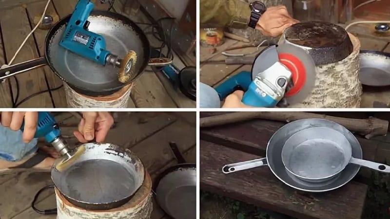 Как почистить от нагара алюминиевые сковородки в домашних условиях