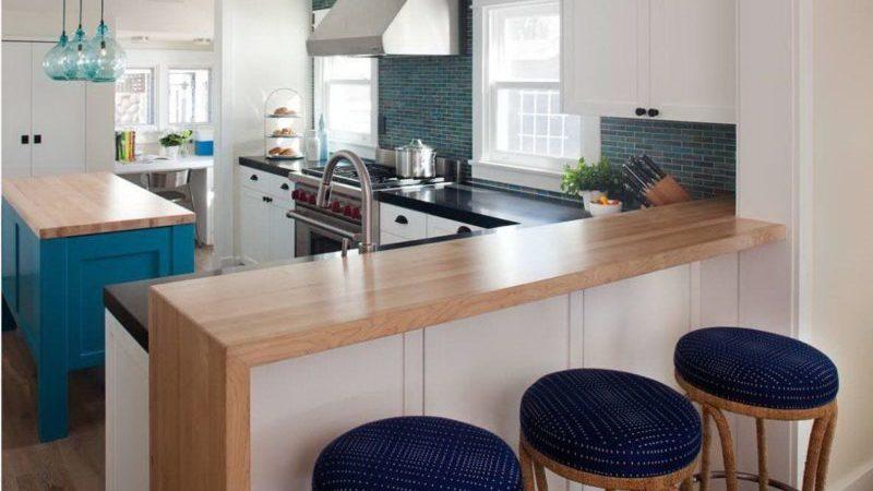 О дизайне кухни с барной стойкой и столом: как украсить дом