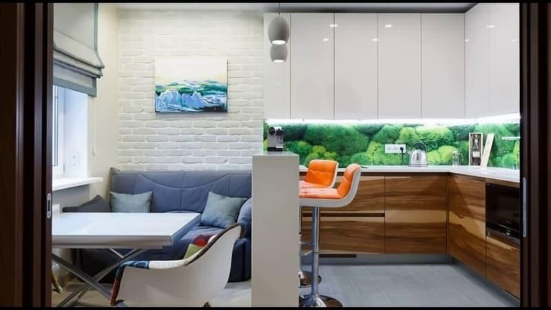 О кухне 10 кв м с диваном: идеи для интерьера