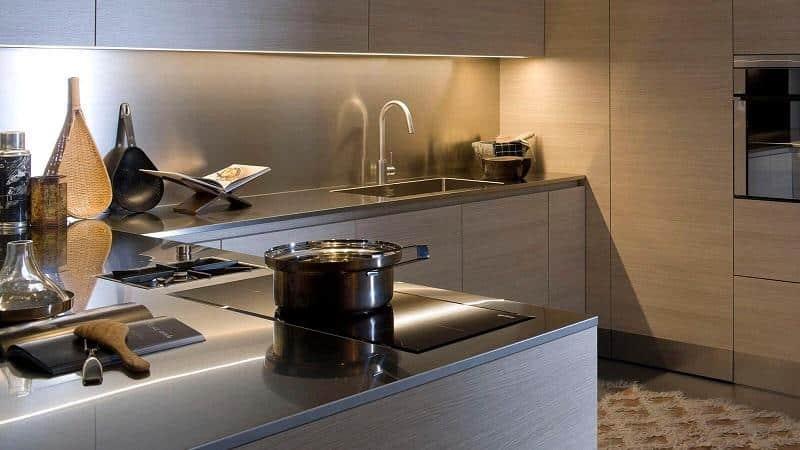Кухонные столешницы из нержавейки