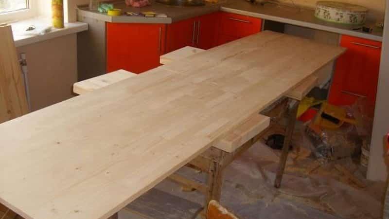 Кухонные столешницы из дерева и фанеры своими руками