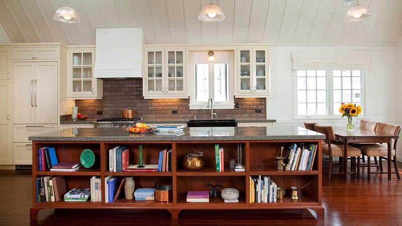 Настенные, открытые и выдвижные кухонные стеллажи