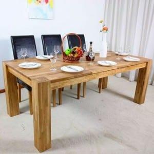 Деревянные обеденные столы для кухни