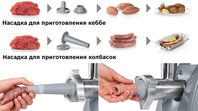 Для чего нужна насадка кеббе в мясорубках