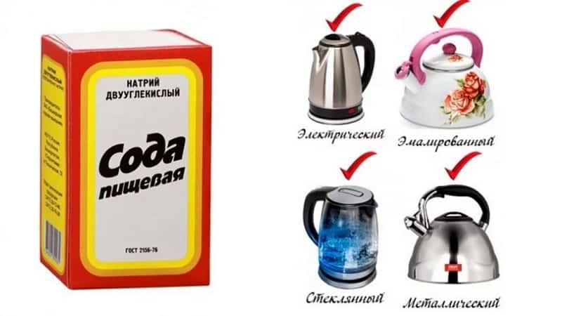 Как очистить чайник от накипи с помощью соды