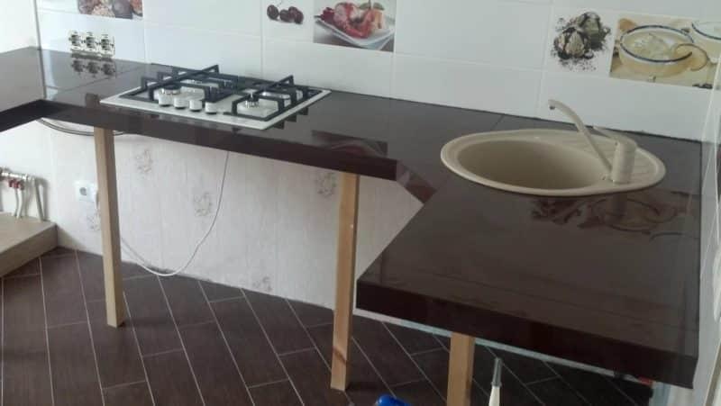 Как сделать столешницу из керамогранита для кухни своими руками
