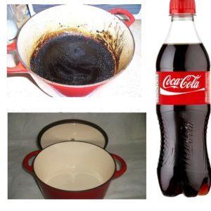 Как удалить пригоревший нагар с эмалированной кастрюли