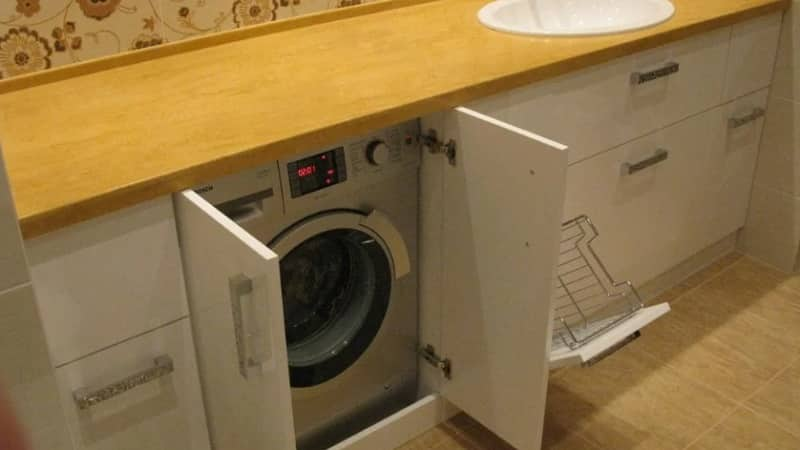 Как встроить стиральную машину в интерьер кухни: идеи планировки