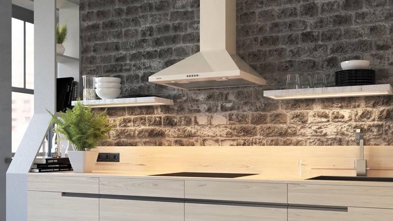 Какие бывают размеры кухонных вытяжек