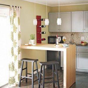 О барной стойке у стены на кухне: как сделать самому, своими руками