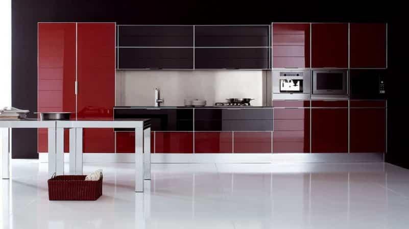 Применение алюминиевых фасадов в кухонных гарнитурах