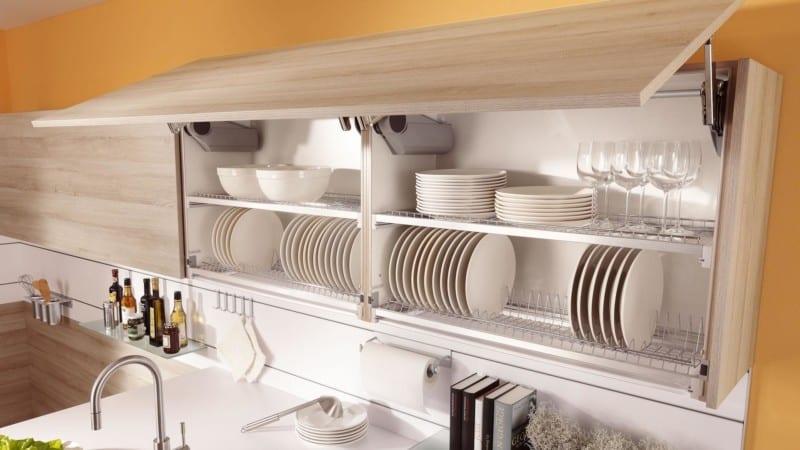 Всё о полках в кухонный шкаф для сушки посуды